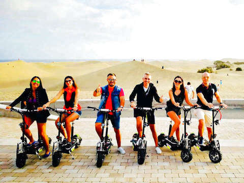 Guided Tour With Electric Scooter 1 Hour in Maspalomas