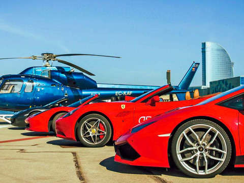 Barcelona: Drive a Ferrari and Travel by Helicopter (X 2pax)