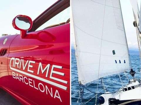 Barcelona: Drive a Ferrari and Sail on a Sailboat (X 2pax)