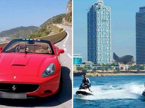 Barcelona: Drive a Ferrari and Jet Ski (X 2pax)