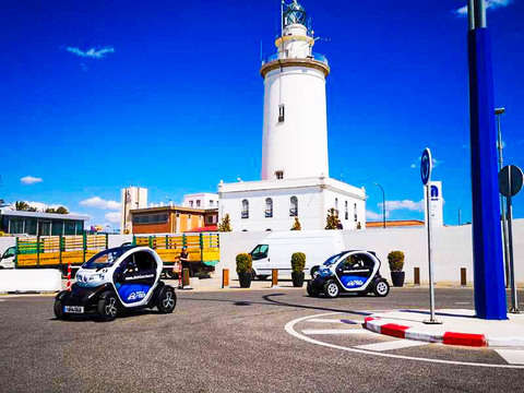 Get to know Malaga in a fun way in a Renault Twizy
