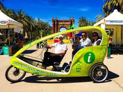 Barcelona tour in Rickshaw