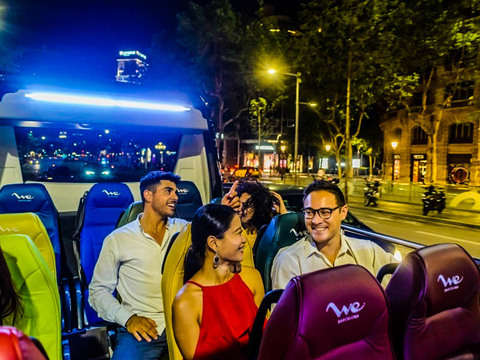 Magic Fountains Show With Convertible Minibus.