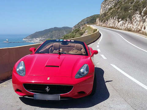 Barceloneta and Tour by the Beach on Board of a Ferrari